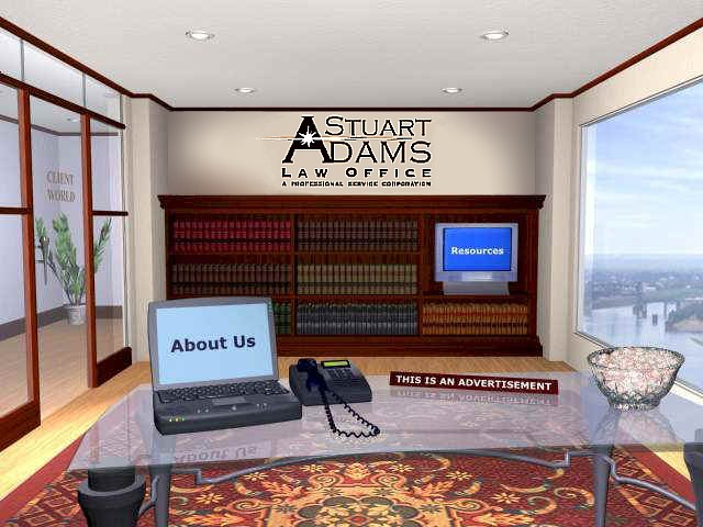 Image Map Navigation for Stuart Adams Law Office, a Professional Service Corporation